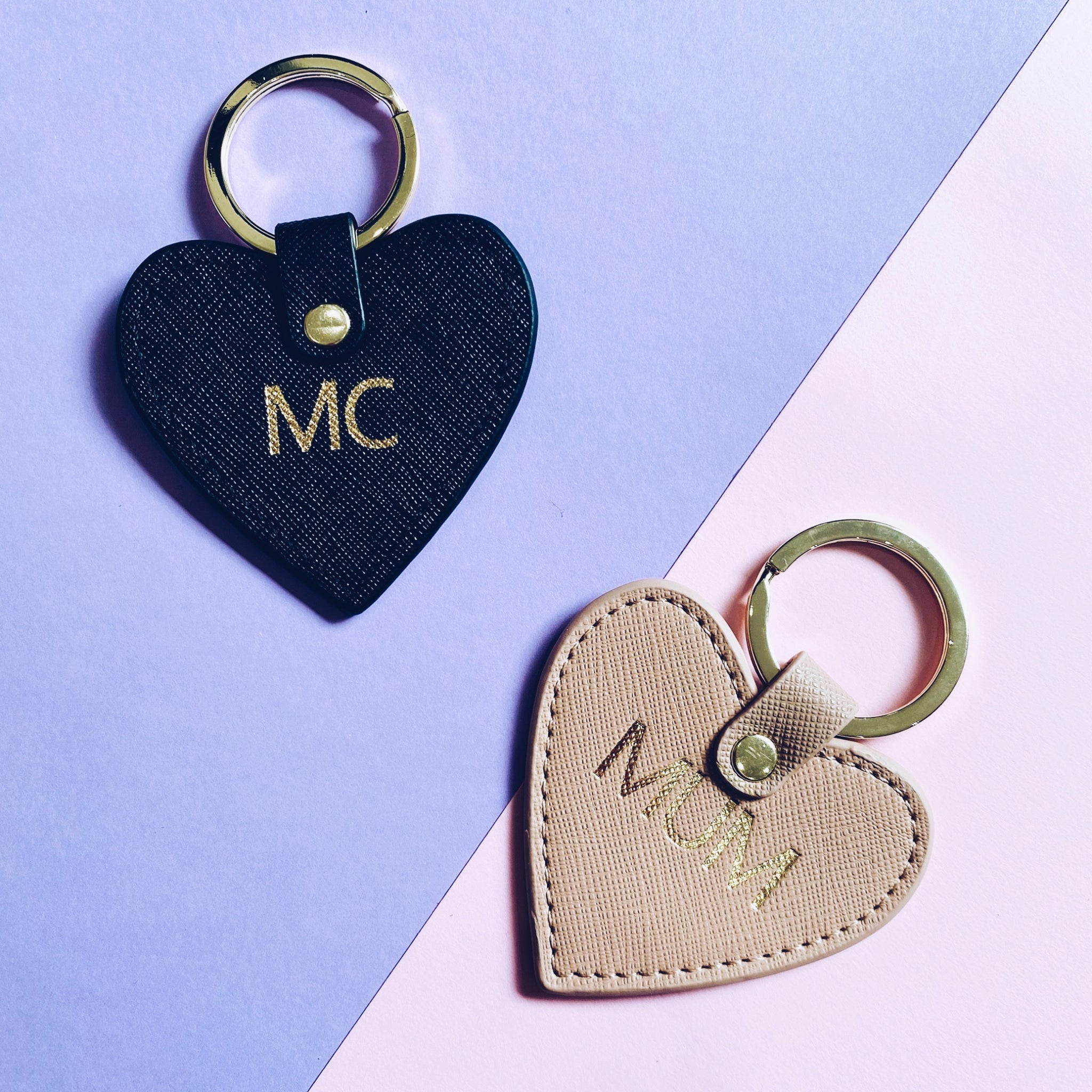 Heart Keyring Genuine Leather