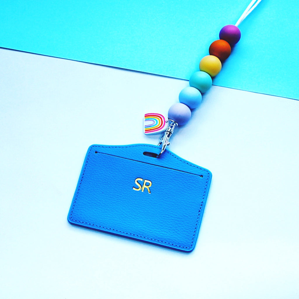 Blue Card Holder (lanyard not included)