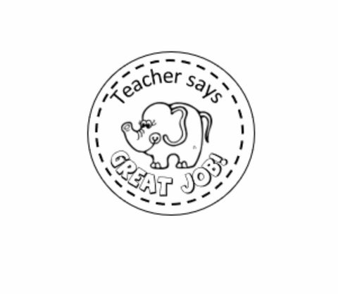 Elephant stamp 38mm
