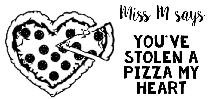 Pizza Rectangle Stamp