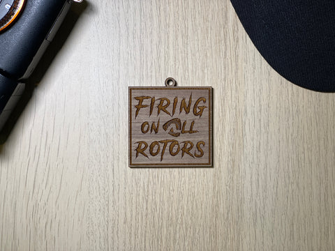 Firing on All Rotors Keychain