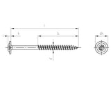 Pan Head Timber Screws TX25 Drive x100mm