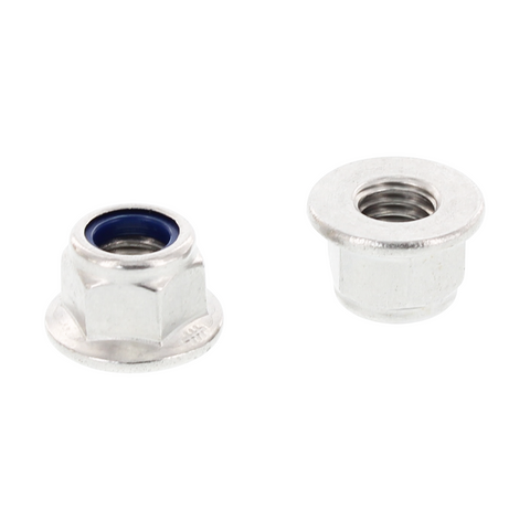 Self-Locking Hex Flange Nuts w Serration M8-Gleitmo Coated (A4)