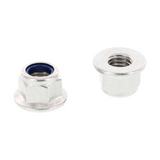 Self-Locking Hex Flange Nuts w Serration M8-Gleitmo Coated (A2)