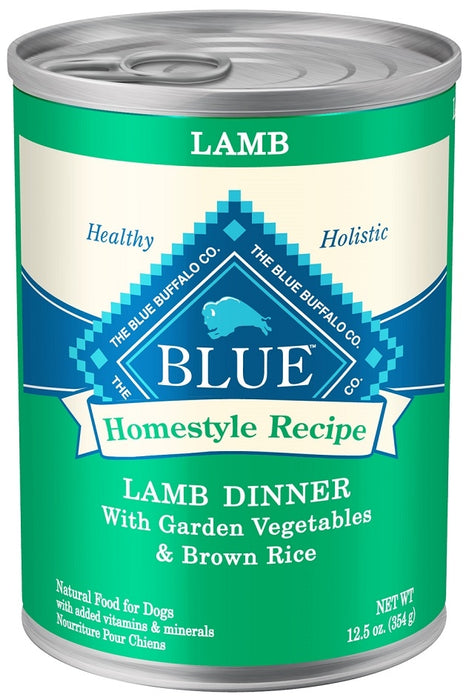 Blue Buffalo Homestyle Recipe Lamb Dinner with Garden Vegetables and Brown Rice Canned Dog Food