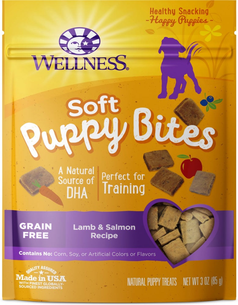 Wellness Soft Puppy Bites Lamb & Salmon Recipe Dog Treats