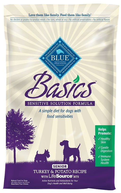 Blue Buffalo Basics Senior Turkey and Potato Recipe Dry Dog Food