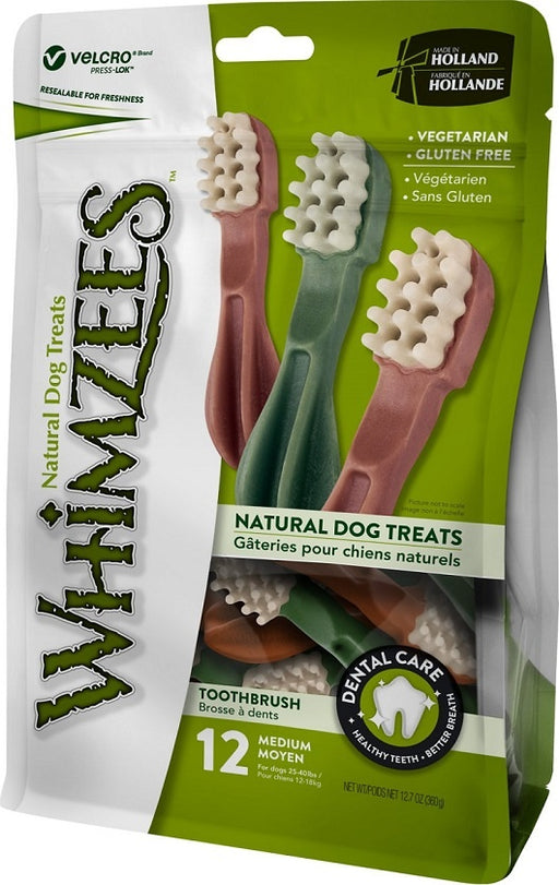 Whimzees Toothbrush Star Dental Chew Dog Treats