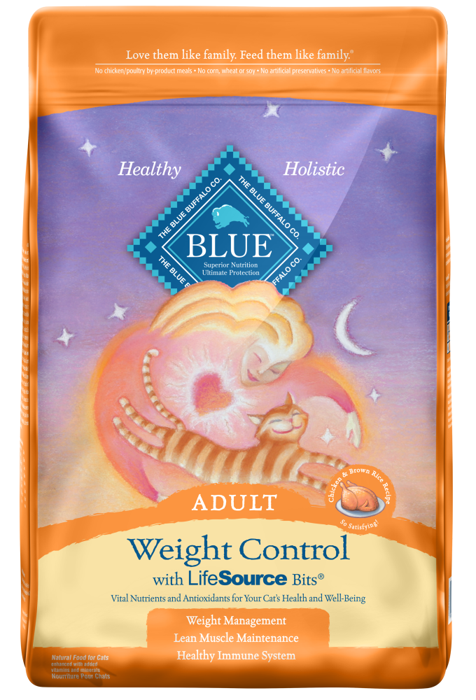 Blue Buffalo Weight Control Chicken and Brown Rice Recipe Adult Dry Cat Food
