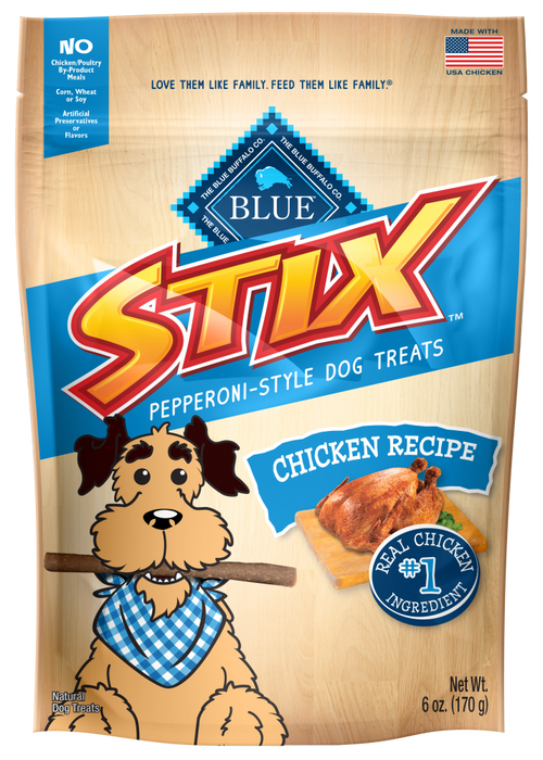 Blue Buffalo Stix Chicken and Brown Rice Natural Soft Dog Treats