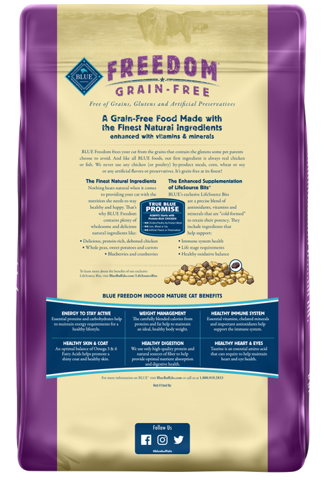 Blue Buffalo Freedom Grain Free Mature Indoor Dry Cat Food
