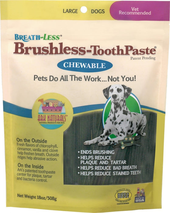 Ark Naturals BREATH-LESS Brushless-Toothpaste Large Dog Treats