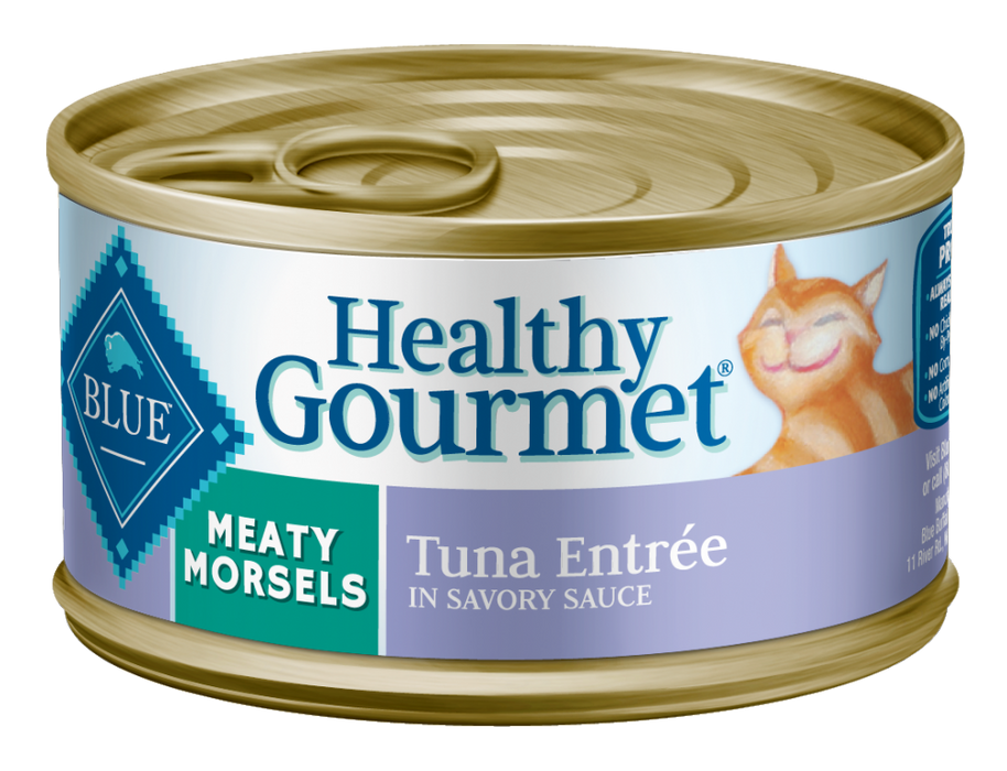 Blue Buffalo Healthy Gourmet Meaty Morsels Tuna Entree Canned Cat Food