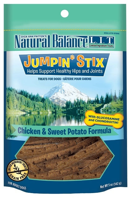 Natural Balance L.I.T. Limited Ingredient Treats Jumpin' Stix Chicken and Sweet Potato Formula Dog Treats