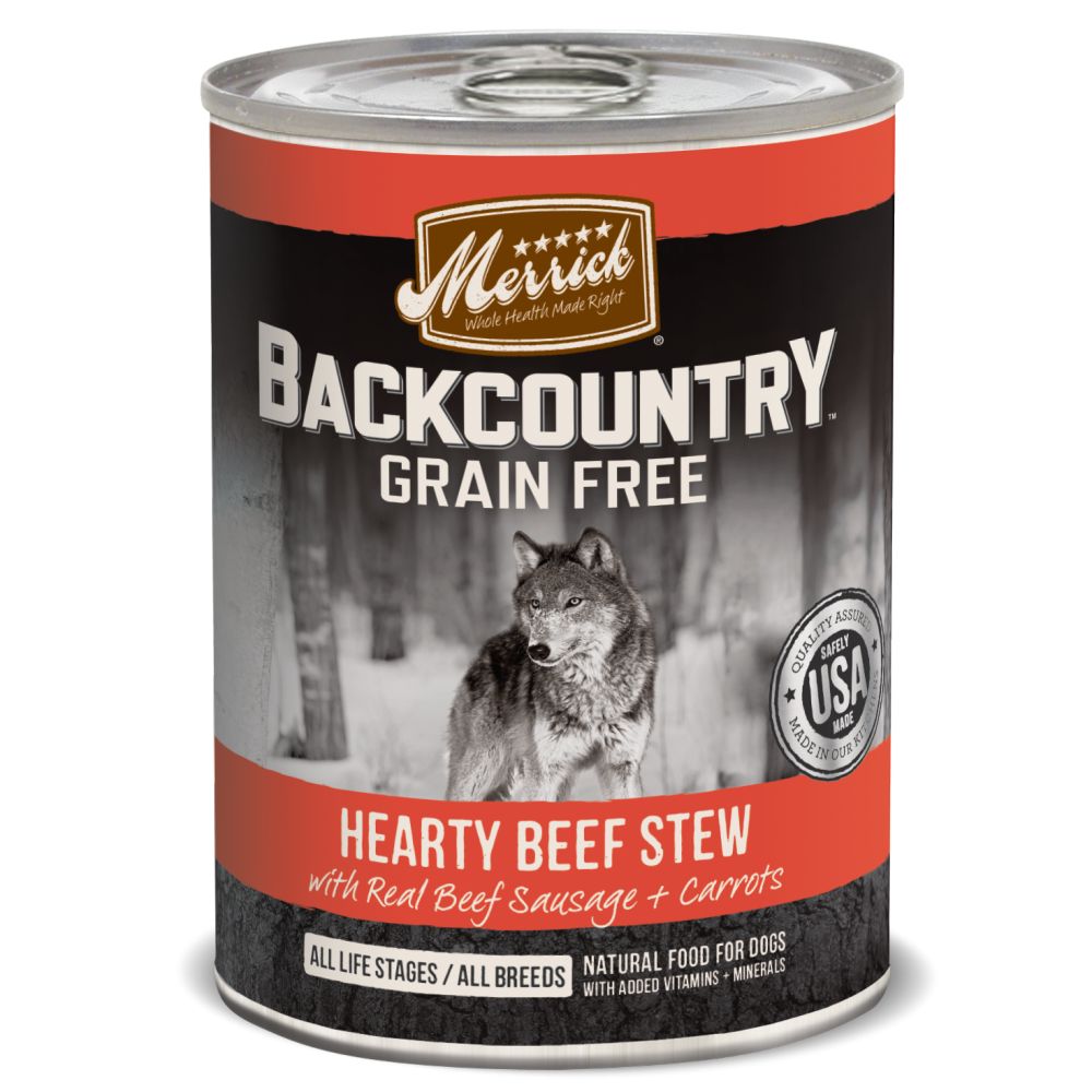 Merrick Backcountry Grain Free Hearty Beef Stew Canned Dog Food