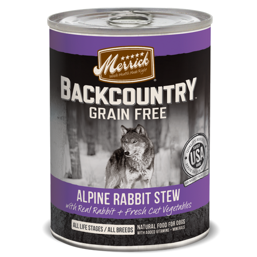 Merrick Backcountry Grain Free Alpine Rabbit Stew Canned Dog Food