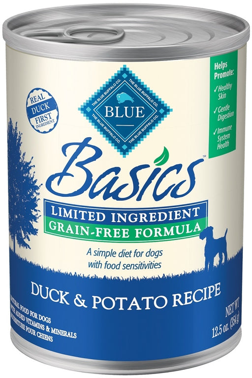 Blue Buffalo Basics Limited Ingredient Diet Grain Free Adult Duck and Potato Canned Dog Food