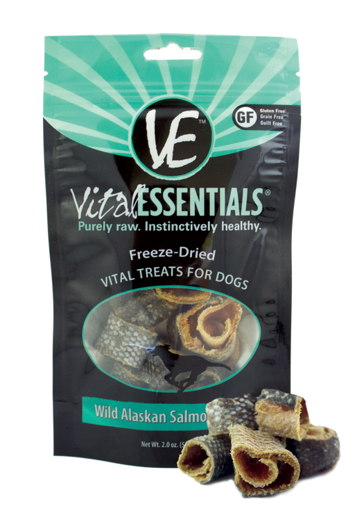 Vital Essentials Freeze Dried Vital Treats Grain Free Wild Alaskan Salmon Rings Dog Treats
