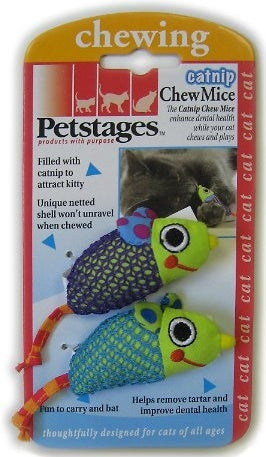 Petstages Catnip Chew Mice Cat Toy