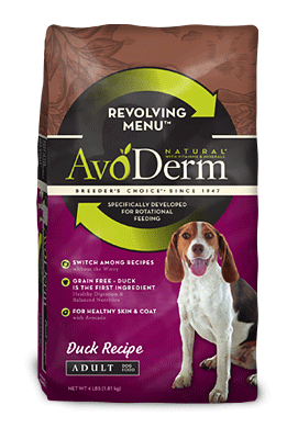 Avoderm Revolving Menu Grain Free Duck Recipe Adult Dry Dog Food