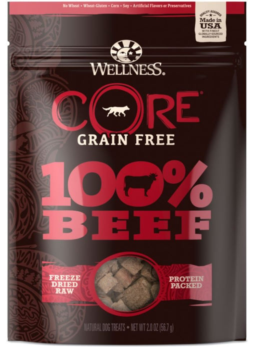 Wellness Core Natural Grain Free 100% Freeze Dried Beef Dog Treats