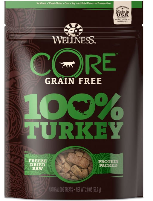 Wellness Core Natural Grain Free 100% Freeze Dried Turkey Dog Treats
