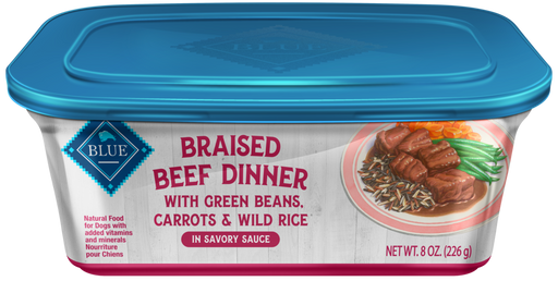 Blue Buffalo Beef Braised Dinner with Green Beans, Carrots and Wild Rice Dog Food Tray