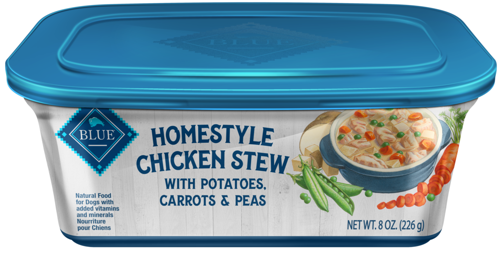 Blue Buffalo Homestyle Chicken Stew with Potatoes, Carrots and Peas Dog Food Tray