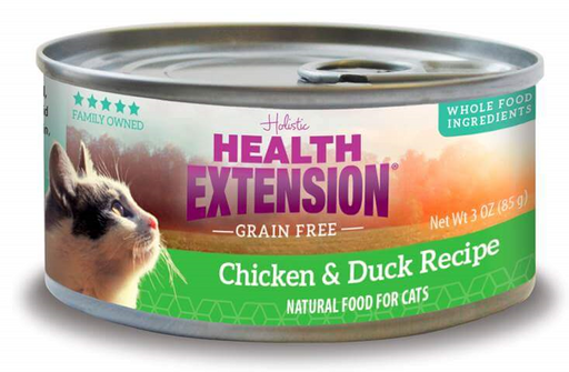 Health Extension Grain Free Chicken and Duck Recipe Canned Cat Food