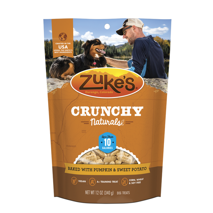 Zukes Crunchy Naturals Baked with Pumpkin and Sweet Potato 10s Dog Treats
