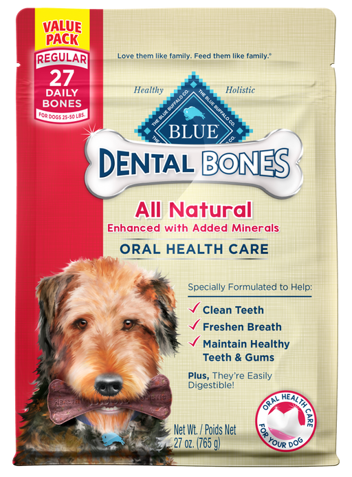 Blue Buffalo Blue All Natural Dental Bones Dog Treats