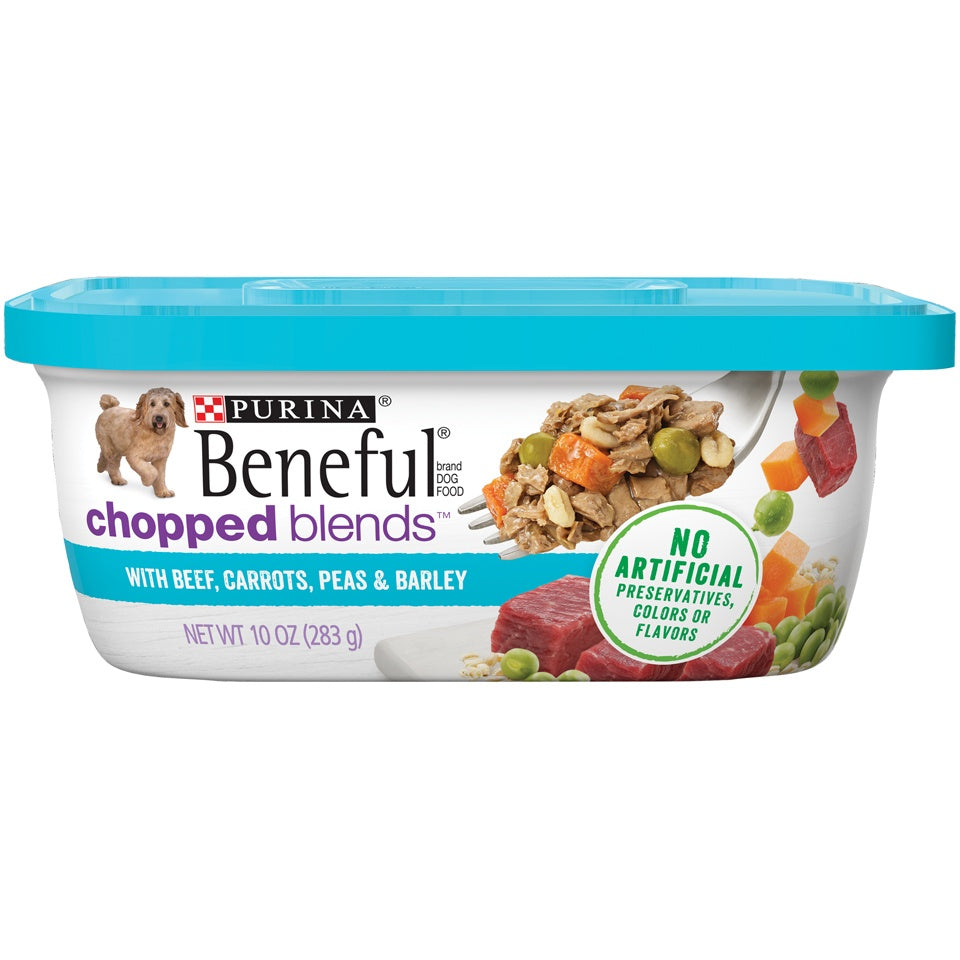 Beneful Chopped Blends With Beef, Carrots, Peas & Barley Wet Dog Food Tubs