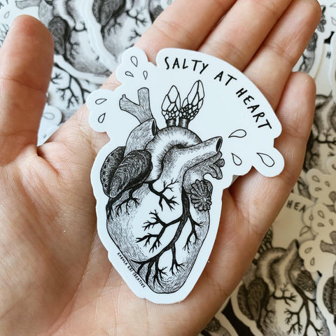 salty at heart sticker kohola kai creative