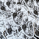 ocean anatomical heart sticker