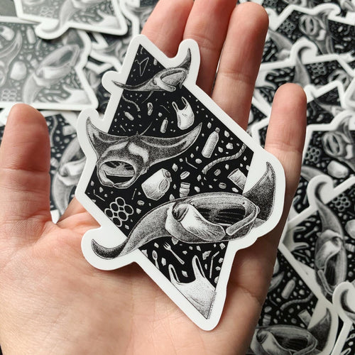 manta ray sticker