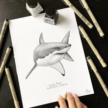 Load image into Gallery viewer, White Shark Ink Original