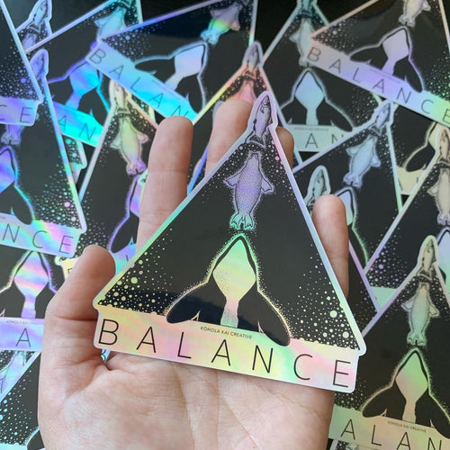 Holographic BALANCE Sticker