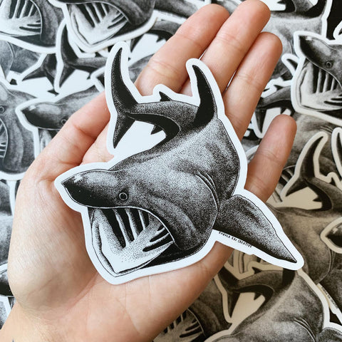 Basking shark sticker kohola kai creative