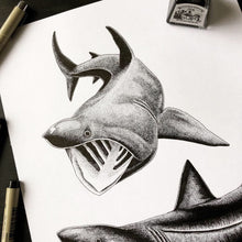 Load image into Gallery viewer, Basking Sharks Ink Original