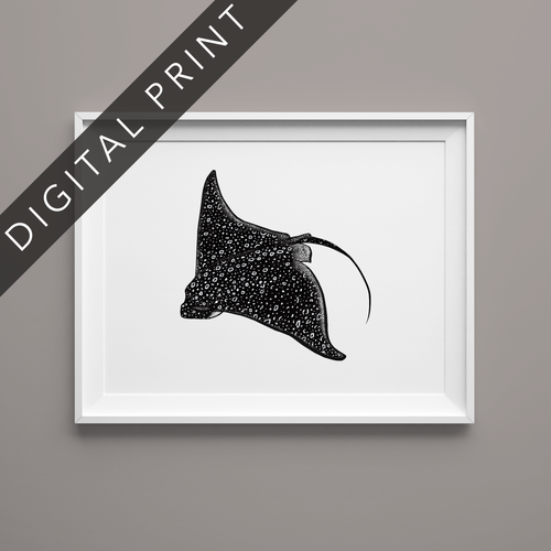 Eagle Ray Digital Print
