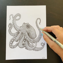Load image into Gallery viewer, Ink Octopus Original