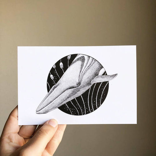 100 Reasons Fin Whale Postcard Print