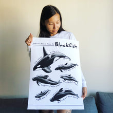 Load image into Gallery viewer, blackfish-art-poster-model-kohola-kai-creative