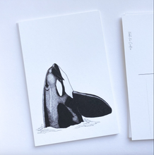 Load image into Gallery viewer, Orca Spyhop Postcard Print
