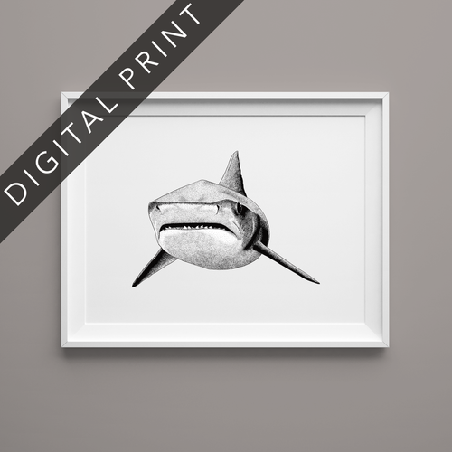 Tiger Shark Digital Print
