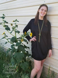 B3 Black Pocket Dress