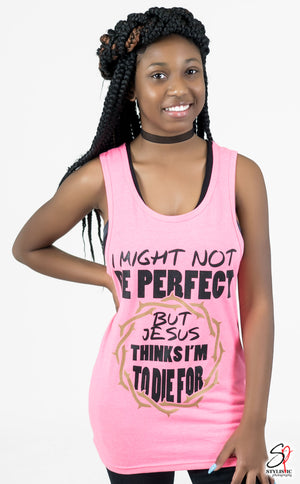 I might not be perfect Tank (Women Fitted)