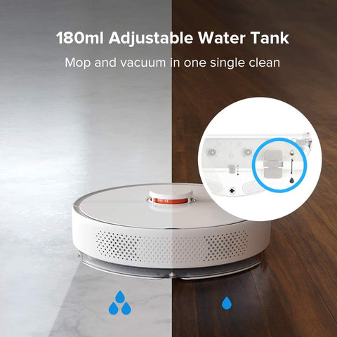 Roborock S6 Pure Robotic Vacuum and Mop Cleaner Australian Model