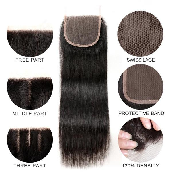 Straight Hair Bundles With Lace Closure - HairBundlez