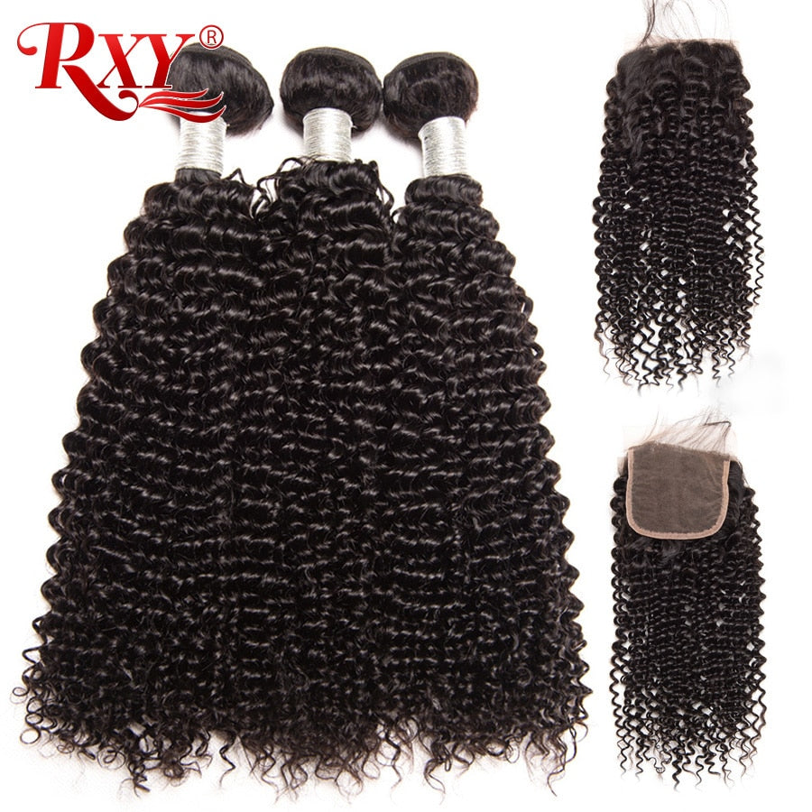 Brazilian Afro-Kinky Curly Hair Bundles With Closure - HairBundlez